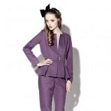 fioletowy żakiet poca&poca - moda jesienna