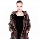 futro Pull and Bear w kolorze brązowym - zima 2013/14