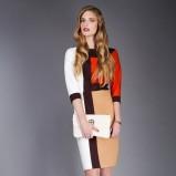 geometryczna sukienka do kolan Pretty Girl - kolekcja dla kobiet