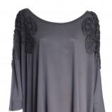 grafitowa bluzka H&M - moda jesienna