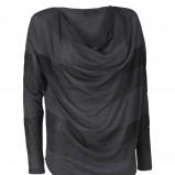 grafitowa bluzka InWear w pasy - moda zimowa