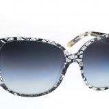 grafitowe okulary przeciwsłoneczne Dolce&Gabbana w wężową skórę - wiosna/lato 2012