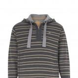grafitowy sweter Marks & Spencer w paski - kolekcja jesienno-zimowa
