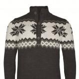 grafitowy sweter Top Secret we wzory - kolekcja jesienno-zimowa