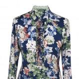 granatowa bluzeczka Pretty One w kwiaty - jesień 2013