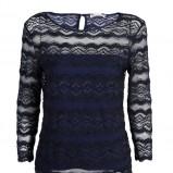 granatowa bluzeczka Stefanel koronkowa - kolekcja jesienna 2013