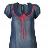 granatowa bluzka Camaieu w kropki - letnia kolekcja