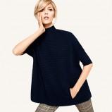 granatowa bluzka H&M - jesień 2011