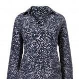 granatowa bluzka Van Graaf w kropki - trendy wiosenne