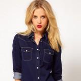 granatowa koszula Asos jeansowa - jesień/zima 2012/2013