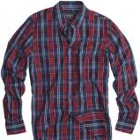 granatowa koszula Pull and Bear w kratkę - moda 2011