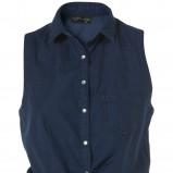 granatowa koszula Topshop - kolekcja wiosenno/letnia