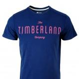 granatowa koszulka Timberland z napisem