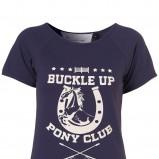 granatowa koszulka Topshop z nadrukiem - kolekcja letnia