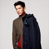 granatowa kurtka H&M - trendy zimowe