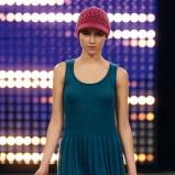 granatowa sukienka Benetton - jesień/zima 2011/2012