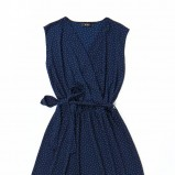 granatowa sukienka Echo w kropki - moda wiosna/lato
