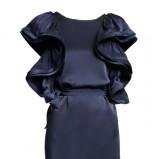 granatowa sukienka H&M - trendy zimowe