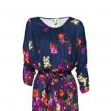 granatowa sukienka Mango w kwiaty - letnia kolekcja