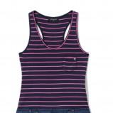 granatowa sukienka Reserved w paski - moda 2011