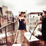 granatowa sukienka Reserved - wiosna/lato 2011