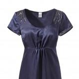 granatowa sukienka s.Oliver - trendy na jesień-zimę