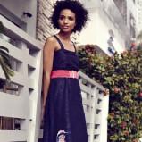 granatowa sukienka Takko Fashion maxi - lookbook na lato 2013