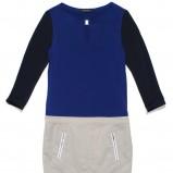 granatowa sukienka z zamkami krótka - wiosna/lato 2012