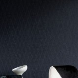 Granatowa tapeta małe romby Arte
