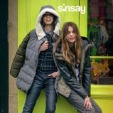 granatowe dżinsy Sinsay rurki - moda jesienna 2013