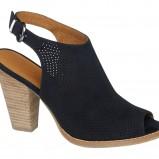 Granatowe sandały na obcasie Deichmann, cena