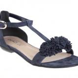 granatowe sandały Quazi z kwiatem - kolekcja wiosenno/letnia