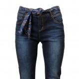 granatowe spodnie Camaieu rurki - z kolekcji wiosna-lato 2012