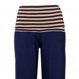 granatowe spodnie Esotiq z wysokim stanem - z kolekcji wiosna-lato 2012