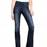 granatowe spodnie H&M dzwony - z kolekcji wiosna-lato 2012