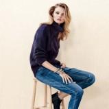 granatowe spodnie H&M - jesień 2013