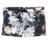 granatowe spodnie H&M we wzorki materiałowe - lato 2012