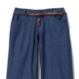 granatowe spodnie Mohito szerokie - z kolekcji wiosna-lato 2012