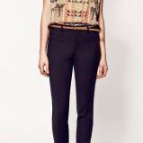 granatowe spodnie ZARA - z kolekcji wiosna-lato 2012
