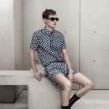 granatowy kombinezon H&M we wzory - wiosna-lato 2012