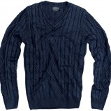 granatowy sweter Pull and Bear - wiosna 2011