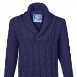 granatowy sweter Troll - jesień/zima