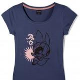 granatowy t-shirt Reserved z nadrukiem - z kolekcji wiosna-lato 2011