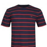 granatowy t-shirt Top Secret w paski - sezon letni