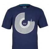granatowy t-shirt Troll z nadrukiem - moda zimowa