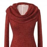 gruba sukienka Pretty One w kolorze bordowym - jesień i zima 2012/13