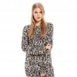 gruby sweter Bershka w kolorze popielatym - moda 2013/14