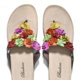 japonki Badura z kwiatkami - obuwie na lato