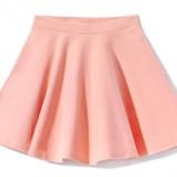 jasnoróżowa spódnica House rozkloszowana - kolekcja na jesień 2013