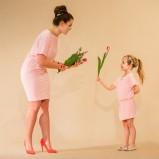jasnoróżowa sukienka SmallBig